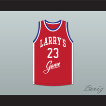 Michael Jordan 23 Larry's Game Red Basketball Jersey 1988 Charity Event