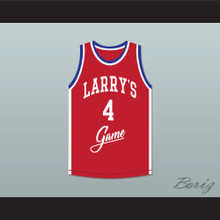 Steve Alford 4 Larry's Game Red Basketball Jersey 1988 Charity Event