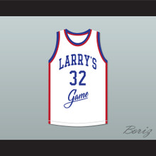 Magic Johnson 32 Larry's Game White Basketball Jersey 1988 Charity Event