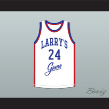 Mark Aguirre 24 Larry's Game White Basketball Jersey 1988 Charity Event