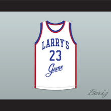 Michael Jordan 23 Larry's Game White Basketball Jersey 1988 Charity Event