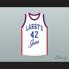 Mike Woodson 42 Larry's Game White Basketball Jersey 1988 Charity Event