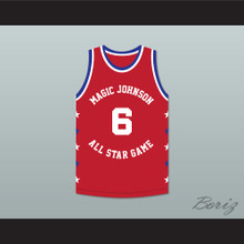 Trent Tucker 6 Magic Johnson All Star Game Red Basketball Jersey 1990 Midsummer Night's Magic Charity Event