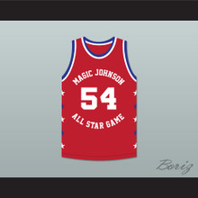 Charles Smith 54 Magic Johnson All Star Game Red Basketball Jersey 1990 Midsummer Night's Magic Charity Event