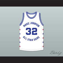 Herb Williams 32 Magic Johnson All Star Game White Basketball Jersey 1990 Midsummer Night's Magic Charity Event