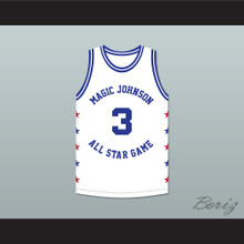 Rex Chapman 3 Magic Johnson All Star Game White Basketball Jersey 1990 Midsummer Night's Magic Charity Event