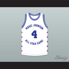 Ron Harper 4 Magic Johnson All Star Game White Basketball Jersey 1988 Midsummer Night's Magic Charity Event