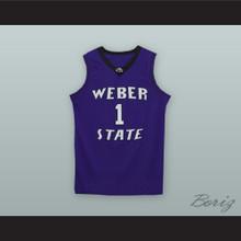 Damian Lillard 1 Weber State Purple Basketball Jersey