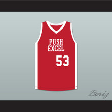Cliff Levingston 53 Push Excel Pro Basketball Classic Red Basketball Jersey 1985 Charity Event