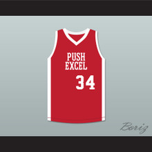 Voise Winters 34 Push Excel Pro Basketball Classic Red Basketball Jersey 1985 Charity Event