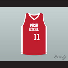 Wes Matthews 11 Push Excel Pro Basketball Classic Red Basketball Jersey 1985 Charity Event