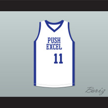 Isiah Thomas 11 Push Excel Pro Basketball Classic White Basketball Jersey 1985 Charity Event