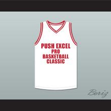 Michael Jordan 23 Push Excel Pro Basketball Classic White Basketball Jersey 1988 Charity Event