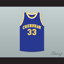 Nipsey Hussle 33 Crenshaw High School Blue Basketball Jersey