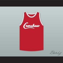 Nipsey Hussle 33 Crenshaw Red Basketball Jersey