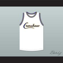 Nipsey Hussle 33 Crenshaw White Basketball Jersey