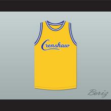 Nipsey Hussle 33 Crenshaw Yellow Basketball Jersey