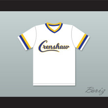 Nipsey Hussle 33 Crenshaw High School White Baseball Jersey