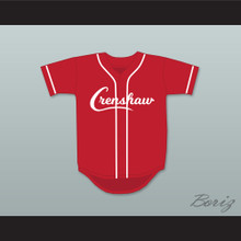 Nipsey Hussle 33 Crenshaw Red Baseball Jersey