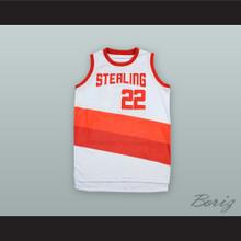 Clyde Drexler 22 Sterling High School Raiders White Alternate Basketball Jersey