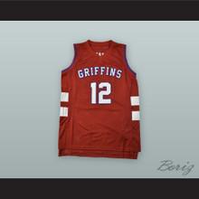 Zion Williamson 12 Spartanburg Day School Griffins Red Alternate Basketball Jersey