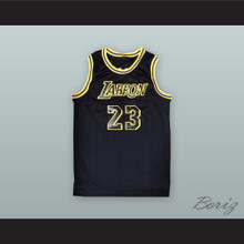 Lebron James 23 Labron Black Basketball Jersey