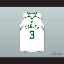 CJ McCollum 3 GlenOak High School  Golden Eagles White Basketball Jersey
