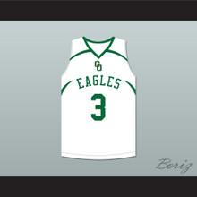 CJ McCollum 3 GlenOak High School  White Basketball Jersey