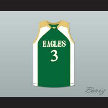 CJ McCollum 3 GlenOak High School Golden Eagles Green Basketball Jersey 2