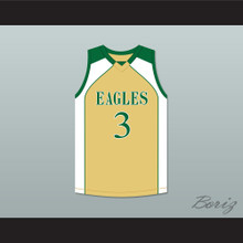 CJ McCollum 3 GlenOak High School Gold Basketball Jersey 2