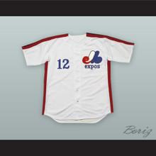 Tom Brady 12 Montreal White Baseball Jersey