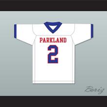 Lee Kpogba 2 Parkland High School Mustangs White Football Jersey
