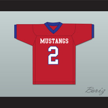 Lee Kpogba 2 Parkland High School Mustangs Red Football Jersey