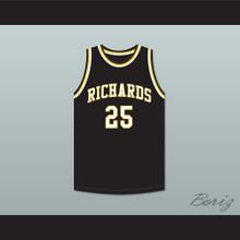 Dwyane Wade 25 Harold L. Richards High School Bulldogs Black Basketball Jersey 1