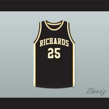 Dwyane Wade 25 Harold L. Richards High School Bulldogs Black Basketball Jersey 3