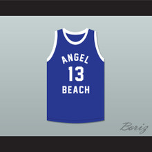 Billy McConti 13 Angel Beach Gators Blue Basketball Jersey Porky's Revenge