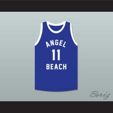 Tommy Turner 11 Angel Beach Gators Blue Basketball Jersey Porky's Revenge