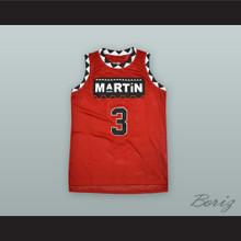 Gina Waters-Payne 3 Martin Red Basketball Jersey