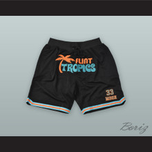 Jackie Moon 33 Flint Tropics Black Basketball Shorts