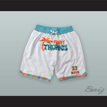 Jackie Moon 33 Flint Tropics White Basketball Shorts
