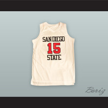 Kawhi Leonard 15 San Diego State White Basketball Jersey