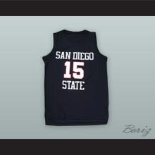 Kawhi Leonard 15 San Diego State Black Basketball Jersey