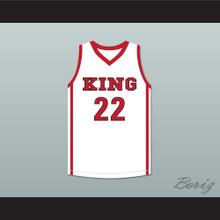 Kawhi Leonard 22 Martin Luther King High School Wolves White Basketball Jersey 1