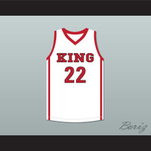 Kawhi Leonard 22 Martin Luther King High School Wolves White Basketball Jersey 2