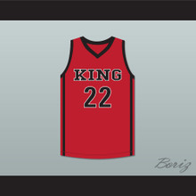 Kawhi Leonard 22 Martin Luther King High School Wolves Red Basketball Jersey 3
