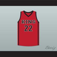 Kawhi Leonard 22 Martin Luther King High School Wolves Red Basketball Jersey 4