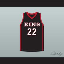 Kawhi Leonard 22 Martin Luther King High School Wolves Black Basketball Jersey 5