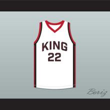 Kawhi Leonard 22 Martin Luther King High School Wolves White Basketball Jersey 7