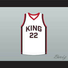 Kawhi Leonard 22 Martin Luther King High School Wolves White Basketball Jersey 8