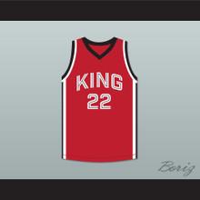 Kawhi Leonard 22 Martin Luther King High School Wolves Red Basketball Jersey 9
